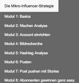 Der Videokurs Auto Insta Marketer - influencer Strategie