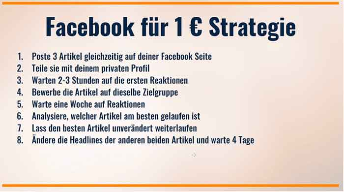 ddie 1 euro facebook strategie