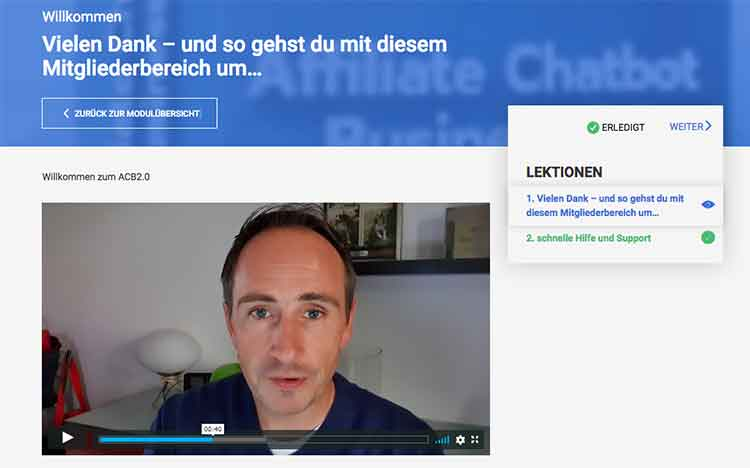 Der Videokurs Affiliate Chatbot Business 2.0 – ein komplettes Business in a Box