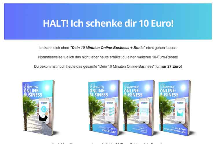 10 min Business von Marko Miosic rabatt